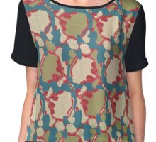 Regular Irregular leaves  Chiffon Top
