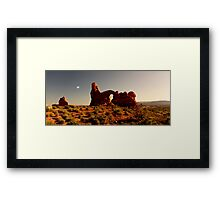 Turret Arch at sunset. Framed Print