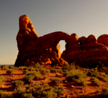 Turret Arch at sunset. Sticker