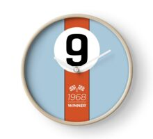 1968 Race Winner #9 Racing livery Clock