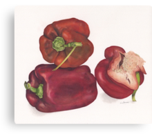 Capsicum stack Canvas Print