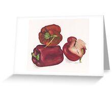 Capsicum stack Greeting Card