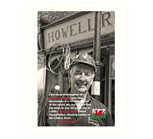 Quotes from Wales: Ann Romney and the Welsh Coal Miner Art Print