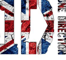One Direction British Flag Logo by femmefatale22