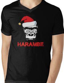 Harambe Christmas Mens V-Neck T-Shirt