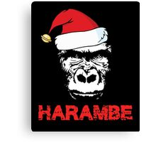 Harambe Christmas Canvas Print