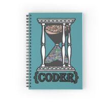 CODER  (hourglass)(programming) Spiral Notebook