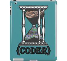 CODER  (hourglass)(programming) iPad Case/Skin