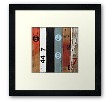 Number 5 Orange Framed Print