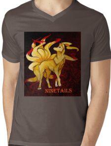 NineTails Mens V-Neck T-Shirt