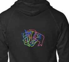 Technicolor Shapes Zipped Hoodie