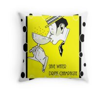 Jazz age deco Drink champagne, bubbles Throw Pillow