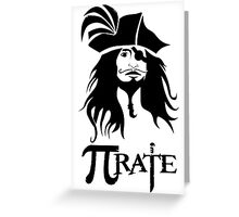"Custom funny ""Pi Rate"" on math image new style Greeting Card"