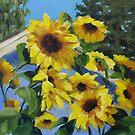 Sunflowers Painting by Karen Ilari