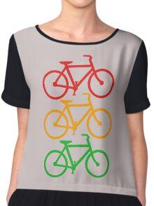 Traffic Light Bicycles Chiffon Top