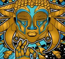 Multicultural Golden buddha Sticker