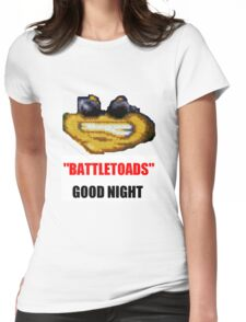 hilarious laughing colours battletoads parody Womens Fitted T-Shirt