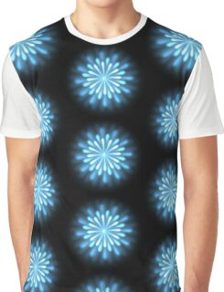 Abstract Chrysanth Flower Background Graphic T-Shirt