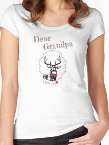 Deer Grandpa - I love my dear family Women's Fitted Scoop T-Shirt