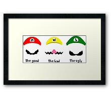 THE GOOD, THE BAD & THE UGLY Framed Print