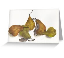 Pear quintet Greeting Card