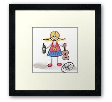 Wonder-uke-Woman Framed Print