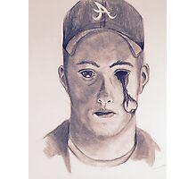 Eye on You Baseball Player Pencil Drawing Portrait Photographic Print