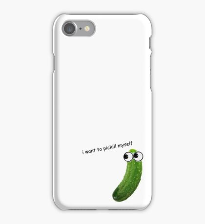 Suicidal Pickle iPhone Case/Skin