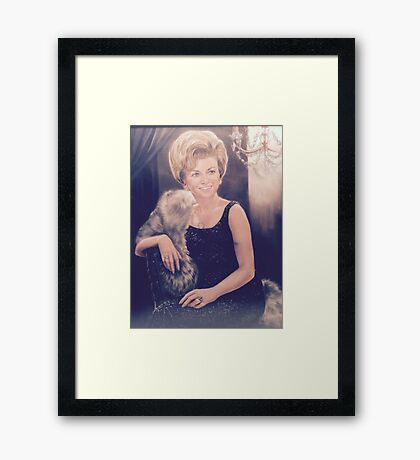 Clarice Pastel Chalk Portrait Drawing Framed Print