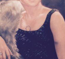 Clarice Pastel Chalk Portrait Drawing Sticker