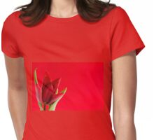 Blooming one single red tulip Womens Fitted T-Shirt