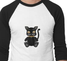 Lucky the Black Cat Men's Baseball ¾ T-Shirt