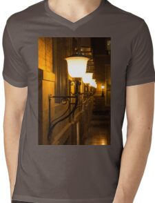 Perspective Study - Elegant Glass Brass and Iron Wall Sconces Right Mens V-Neck T-Shirt