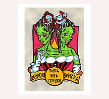 Twice the Terror Siamese Twin Zombie Sideshow LIMITED TIME ONLY by starkgravingmad