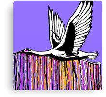 Flight of the Egret Purple Canvas Print