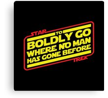 To Boldly Go Canvas Print