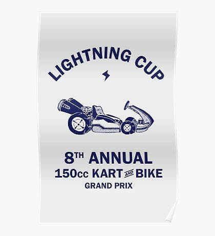 Lightning Cup Kart & Bike Grand Prix Poster