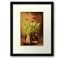 Tulips in Boots Framed Print