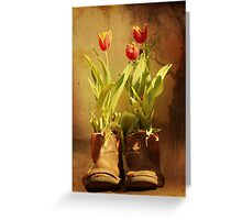 Tulips in Boots Greeting Card