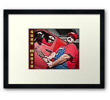 SexyMario - Wrench in Hand Framed Print