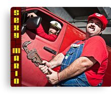 SexyMario - Wrench in Hand Canvas Print