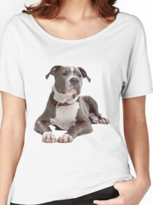 staffordshire terrier blue Women's Relaxed Fit T-Shirt