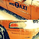 taxi cabs in the snow by ShellyKay