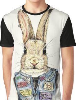 Metal Bunny Graphic T-Shirt