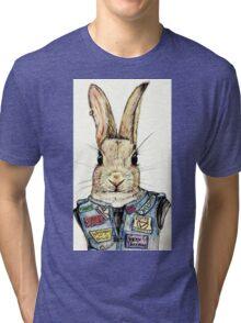 Metal Bunny Tri-blend T-Shirt
