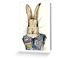 Metal Bunny Greeting Card