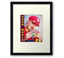 SexyMario - Blowing the Cartridge Framed Print