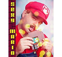SexyMario - Blowing the Cartridge Photographic Print