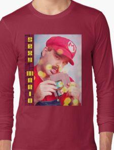 SexyMario - Blowing the Cartridge Long Sleeve T-Shirt
