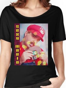 SexyMario - Blowing the Cartridge Women's Relaxed Fit T-Shirt
